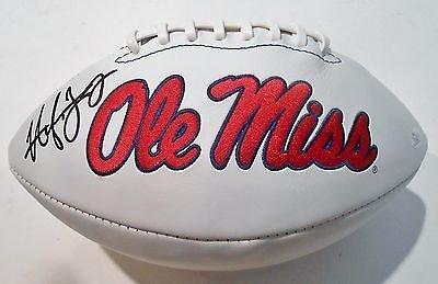 Hugh Freeze Signed Ole Miss Rebels Logo Football W Jsa Coa P26640 At