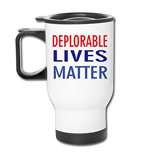 (TRAVE Deplorable Lives Matter White Coffee Or Tea Cup Travel Mug)