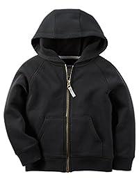 Carter's Boys' Classic Black Fleece Zip-Up Hoodie (8)