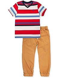 Toddler Boy Jogger + Colored Tee Shirt Outfits   Conjuntos de Bebe Niño