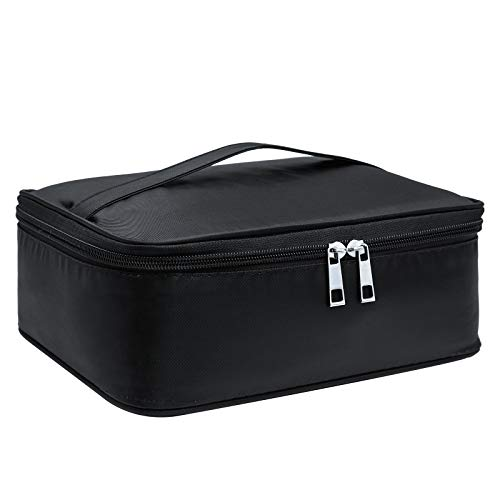 Travel Makeup Bag Large Cosmetic Bag Make up Case Organizer for Women and Girls (Black-1)