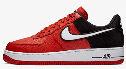 - Nike Men's Air Force 1 LV8 Mystic Red/White/Black Leather Casual Shoes 11 M US