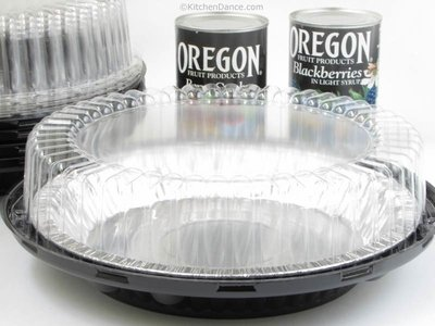 10 Inch High Dome Plastic Disposable/Reusable Pie Carrier #WJ45 (50)