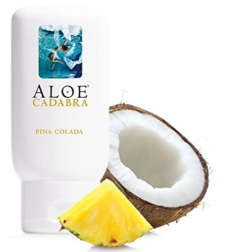 Aloe Cadabra Edible Pina Colada Flavored Lubricant - All Natural for Best Sex Personal Lube & Oral Sex Gel for Men, Women & Couples, 100% Sugar Free 2.5 Oz