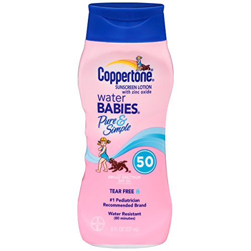 Price comparison product image Coppertone Water Babies Pure & Simple SPF 50, 8oz (Pack of 2)