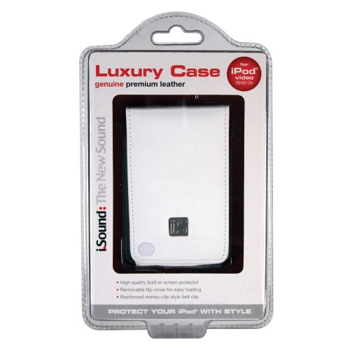 i.Sound Luxury Case for iPod Video (White)