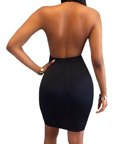 Black Neck See Through Sexy Backless High Women Dress Glitter Coolred Sequin 8Swv4x7q1n