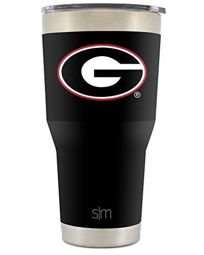 Simple Modern University of Georgia 30oz Cruiser Tumbler - Vacuum Insulated Stainless Steel Travel Mug - UGA Bulldogs Tailgating Hydro Cup College Flask Go Dawgs (Bulldogs Cups)