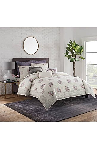 cupcakes and cashmere Full/Queen Duvet Cover Block Print Floral Multi 100% Cotton