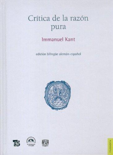 Crítica de la razón pura (Filosofia) (Spanish and German Edition) ebook