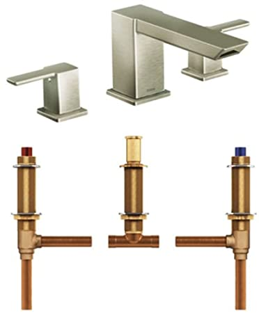Moen TS903BN-4792 90-Degree Two-Handle High Arc Roman Tub Faucet ...