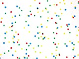 Pack Of 1, Primary Dots Cello Roll 1.0 Mil 40'' X 100' Made In USA For Birthday, Baby And Children