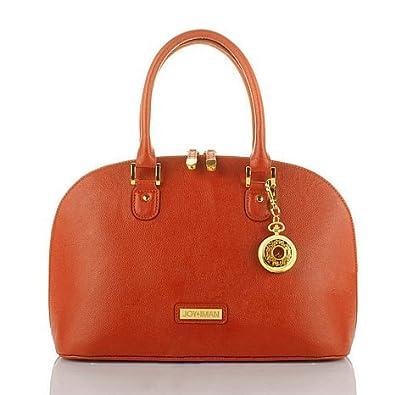 634866130d34 Joy & IMAN 22-Section *CLEARANCE* Luxe Genuine Leather Handbag & Watch -  Sunset Orange: Handbags: Amazon.com