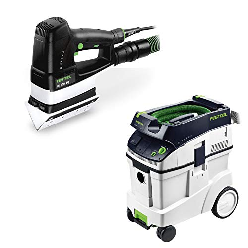 Festool P48567852 Duplex Linear Detail Sander with CT 48 E 12.7 Gallon HEPA Dust Extractor -