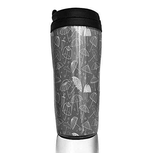 coffee cups for mom Seamless pattern with umbrellas on black background Can be used for wallpaper pattern fills textile web page background surface textures 12 oz,coffee cup for teachers Arkansas 12 Ounce Tumbler