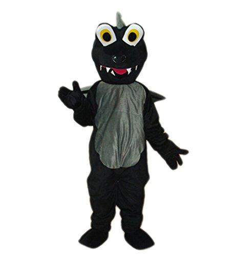 MascotShows Dinosaur Plush Mascot Costume (black) - Dragon Adult Mascot Costumes