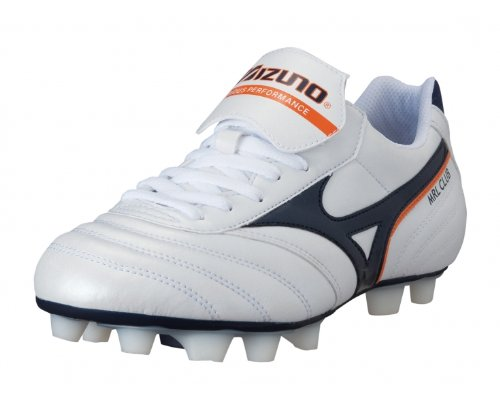 Mizuno Football Shoes man Mrl Club MD Bianco Navy Arancio 40 4R8CW