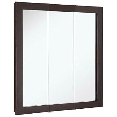 Design House 541342 Ventura Tri-View Medicine Cabinet, Espresso, 30-Inch by 30-Inch