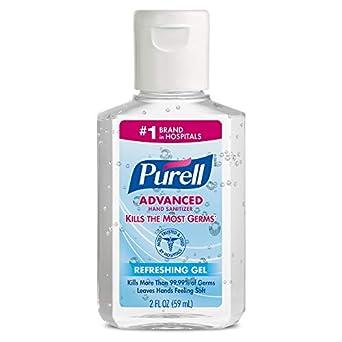 Purell Advanced Hand Sanitizer Hand Sanitizer Gel 2 Fl Oz