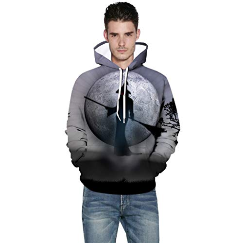 Holzkary Men's Horror Halloween Costume Funny 3D Printed Party Hooded Pullover Tops Long Sleeve Sweatshirts Hoodies(XL.Black-1)]()