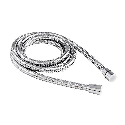 Shower Hose Stainless Steel Bathroom Heater Water Head Pipe Chrome Flexible - Ww.screwfix