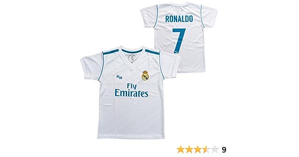 Real Madrid Camiseta 1ª Equipación Replica Oficial 2017-2018 Dorsal Ronaldo - Tallaje Adulto