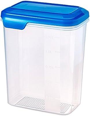 CURVER Flexi Chef 2045220 Caja de almacenaje de plástico Transparente/Azul, 1,6 litros: Amazon.es: Hogar