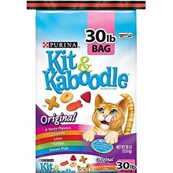 Purina Kit & Kaboodle, Dry Cat Food, Original, 30 Lb Bag (qty (Dry Kit Bag)