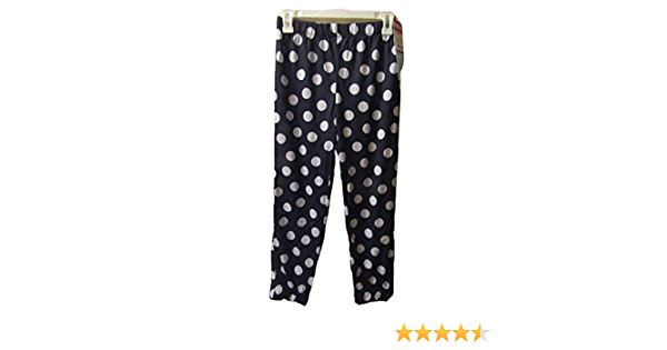 Navy Blue Cat /& Jack Girls Polka Dot Flame Resistant Pajama Pants Large 10//12 White