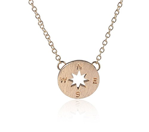 Compass Necklace, Graduation Present, Gift, (gold-plated-base)