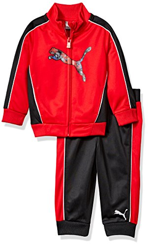 PUMA Baby Boys Track Set, Fierce Red 1, (Cat 2 Embroidery)