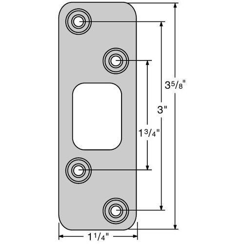 Kwikset 83223 Deadbolt Round Corner Strike, Iron Black Color: Iron Black, Model: 83223-514, Tools & Hardware store