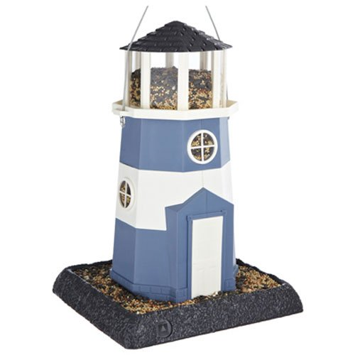 North States Village Collection Light House Birdfeeder- Blue/White by North States Bird