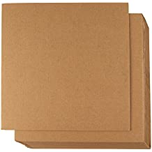 Corrugated Cardboard Sheets - 24-Pack Flat Cardboard Sheets, Cardboard Inserts for Packing, Mailing, Crafts - Kraft Brown, 12 x 12 inches