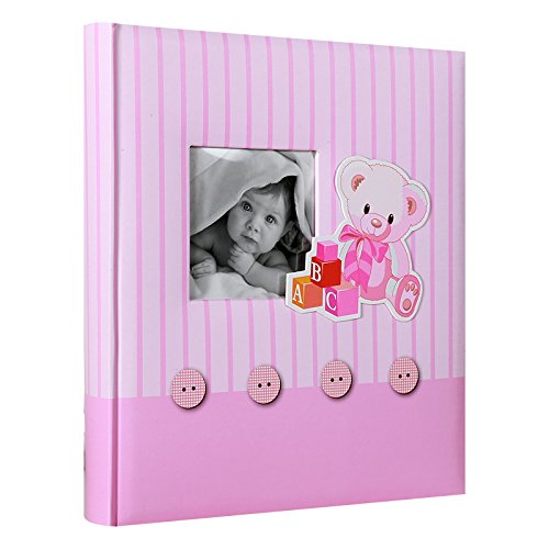 Album Photo traditionnel de Naissance Memories Rose 60 pages blanches - LCD