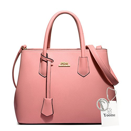 Sacchetti di tela con motivo a croce di grande capacità Yoome Borse eleganti per le ragazze delle frizioni delle ragazze per le donne - rosa