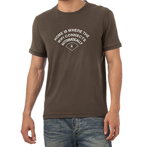 Texlab Home is Where The Wifi Connects Automatically - Herren T-Shirt Braun