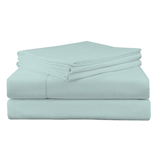 6 Ounce Flannel (Pointehaven 200 GSM Flannel Sheet Set, King, Solid, Lagoon)