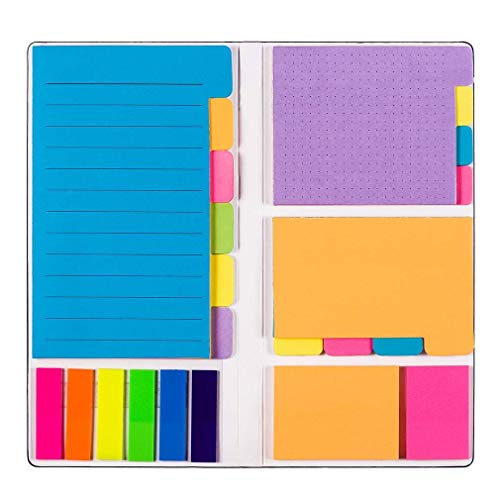 Sticky Notes Set - Sticky Notes Bundle Set- Bookmark, Prioritize with Color Coding - Each has 60 Ruled Lined Notes (4x6), 48 Dotted Notes (3x4), 48 Blank Notes (2.6x4),96 Sticky Notes,150 PET Index Tabs,Total 402 Sheets