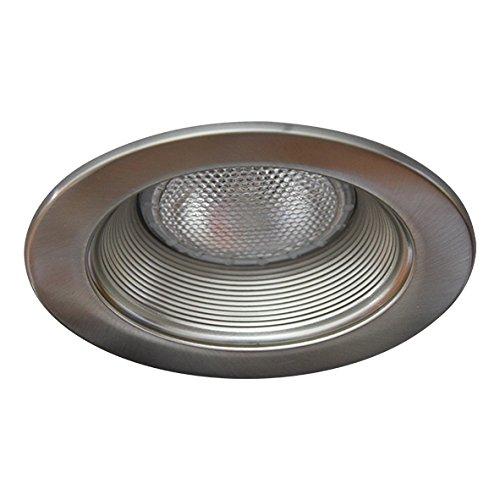 Eco Lighting NY HV5001SN/SN 5-Inch Line Voltage Trim Recessed Light fit Halo/Juno, Step Baffle Trim, Baffle: Satin Nickel, Ring: Satin Nickel