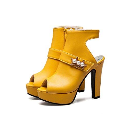wasserdichten Sommer yellow der Frühling Taiwans und ultra Frauen mit Schuhe dicken kalten Schuhe mit ZqYHq
