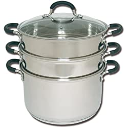 Joyce Chen 26-0054, 3-Tier Chinese Steamer, 6-Quart