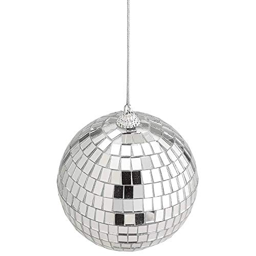 4'' Mirror Disco Lights - Silver Hanging Ball - Perfect for Home Decorations, Stage Props, Game Accessories, School Festivals, Party Favor and Supplies by Kidsco (Image #6)