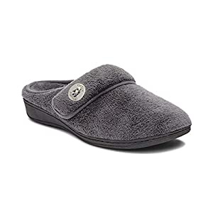 Vionic Women's Indulge Sadie Mule Slipper – Ladies Slipper Concealed Orthotic Support