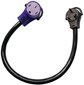 Parkworld 885378 EV Adapter Cord NEMA TT-30P to 14-50R (ONLY for EV or Tesla use, NOT for RV) (2FT)