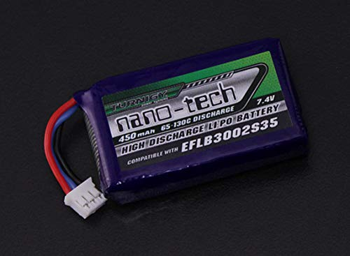 SKB family Turnigy Nano-tech 450mAh 2S 65C Lipo (E-flite Compatible - Blade 130X EFLB3002S35)
