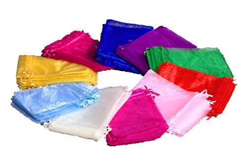 EDENKISS Brand 5x7 Inches Mix Color Drawstring Organza Jewel