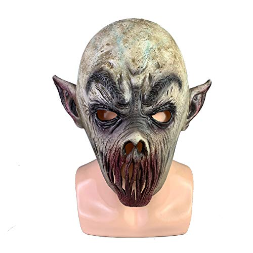 Leadership Burbank Scary Costumes Party - Jacos Lipless Zombie Mask,Dead Evil Latex