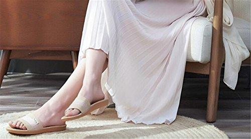 Femmes Lin Anti TELLW pour Femmes int¨¦Rieur Pantoufles Rose Aspiration Lin Lin Hommes Printemps Automne odeurs ¨¦t¨¦ Sueur rZZUvxw