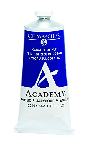 Grumbacher Academy Acrylic Paint, 90ml/3 oz Metal Tube, Cobalt Blue Hue